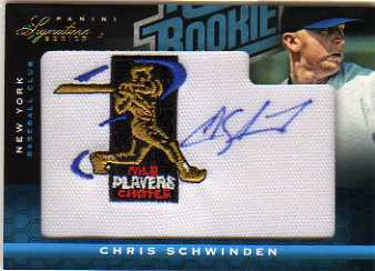 2012 Panini Signature Series Rookie MLBPA Logo #109 Chris Schwinden/299