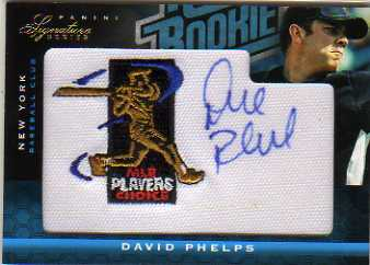 2012 Panini Signature Series Rookie MLBPA Logo #110 David Phelps/299