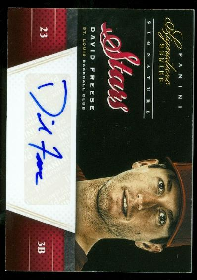 2012 Panini Signature Series Signature Stars #10 David Freese/25