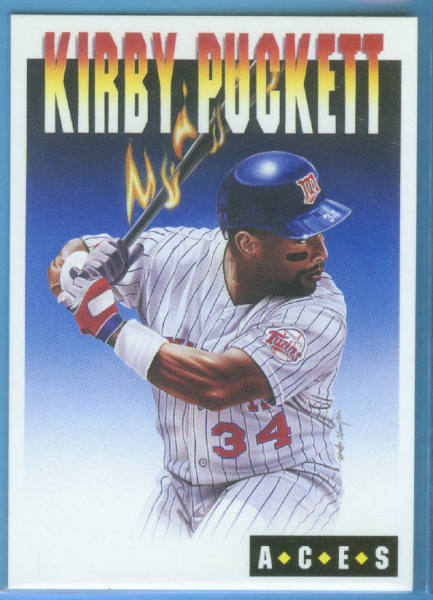 1993 Cartwright's Aces Card #10 Kirby Puckett