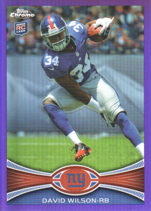 2012 Topps Chrome Purple Refractors #189 David Wilson