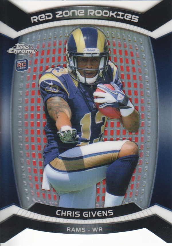 2012 Topps Chrome Red Zone Rookies Refractors #RZDC27 Chris Givens