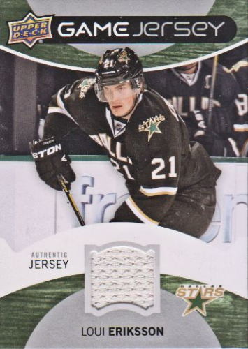 2012-13 Upper Deck Game Jerseys #GJLE Loui Eriksson F