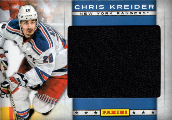 2012 Panini Jumbo Materials Toronto Fall Expo #CK Chris Kreider