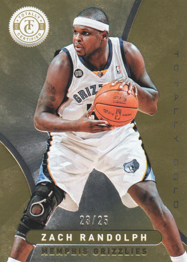 2012-13 Totally Certified Gold #167 Zach Randolph