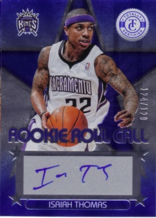 2012-13 Totally Certified Rookie Roll Call Autographs Blue #10 Isaiah Thomas/129