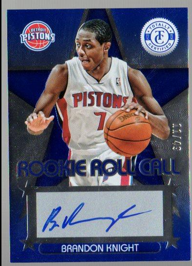 2012-13 Totally Certified Rookie Roll Call Autographs Blue #13 Brandon Knight/49