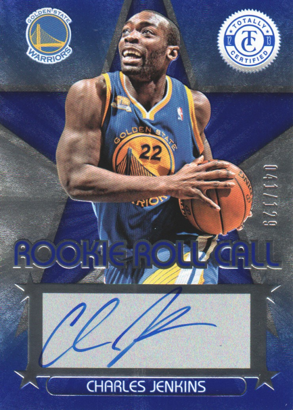 2012-13 Totally Certified Rookie Roll Call Autographs Blue #42 Charles Jenkins/129