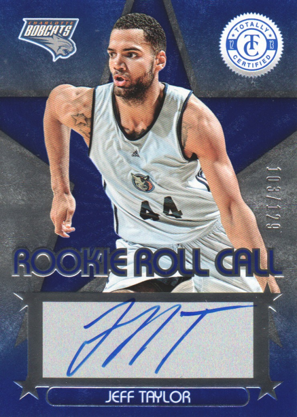 2012-13 Totally Certified Rookie Roll Call Autographs Blue #64 Jeff Taylor/129
