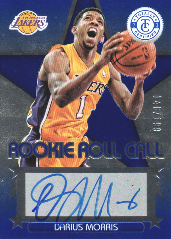 2012-13 Totally Certified Rookie Roll Call Autographs Blue #77 Darius Morris/199