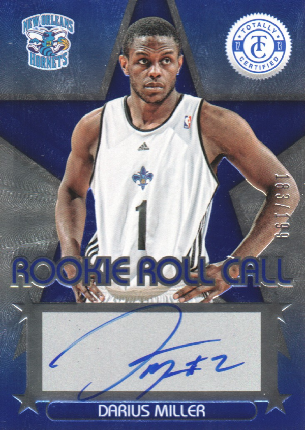 2012-13 Totally Certified Rookie Roll Call Autographs Blue #92 Darius Miller/199