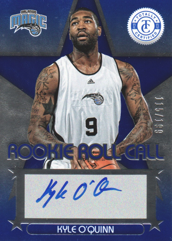2012-13 Totally Certified Rookie Roll Call Autographs Blue #95 Kyle O'Quinn/199