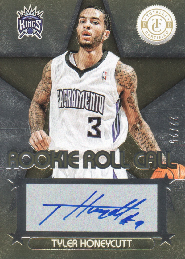 2012-13 Totally Certified Rookie Roll Call Autographs Gold #82 Tyler Honeycutt/25