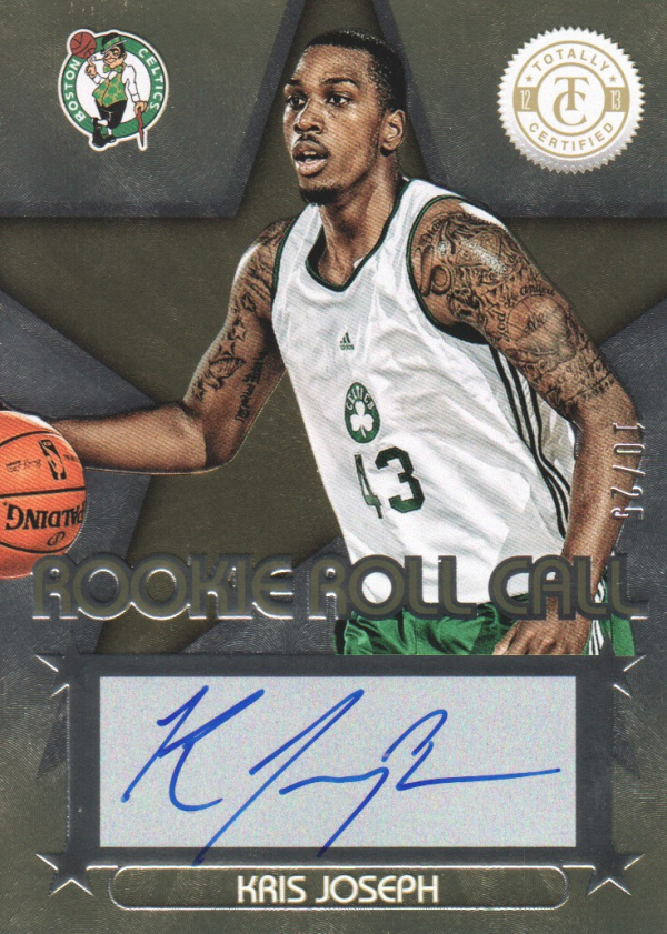 2012-13 Totally Certified Rookie Roll Call Autographs Gold #97 Kris Joseph/25