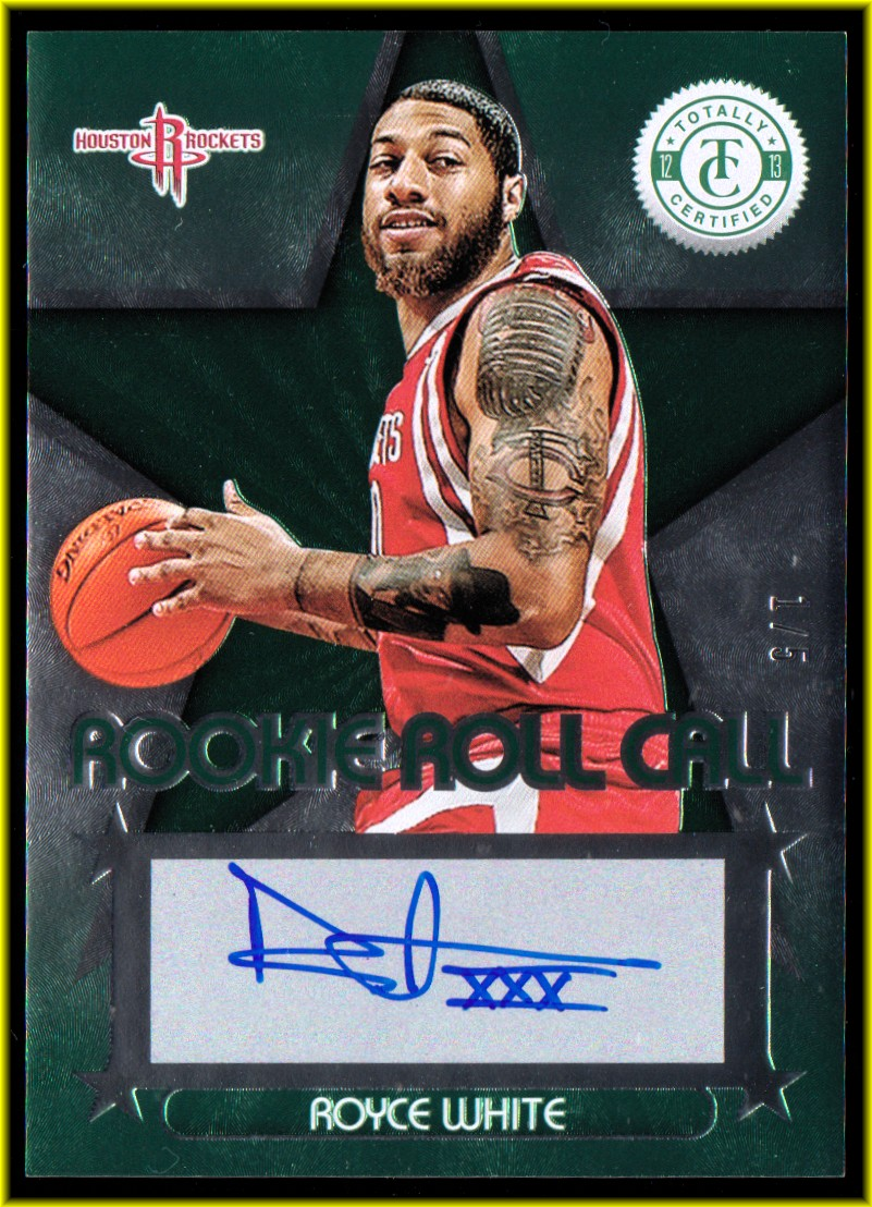 2012-13 Totally Certified Rookie Roll Call Autographs Green #40 Royce White