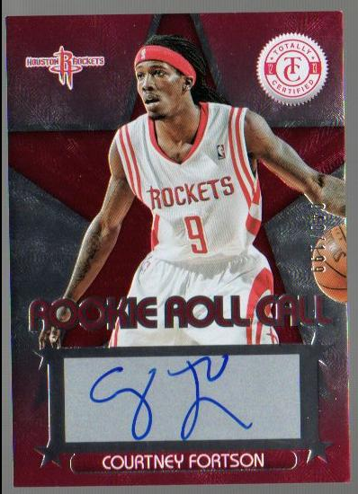 2012-13 Totally Certified Rookie Roll Call Autographs Red #62 Courtney Fortson/199