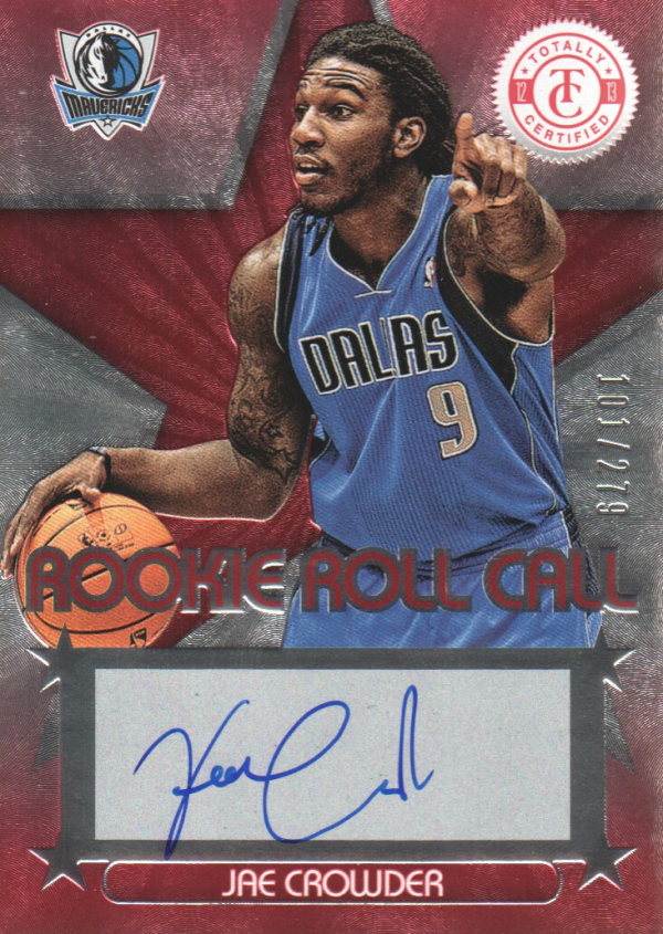 2012-13 Totally Certified Rookie Roll Call Autographs Red #75 Jae Crowder/279