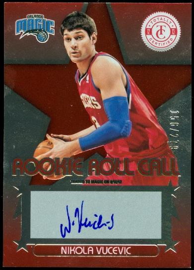2012-13 Totally Certified Rookie Roll Call Autographs Red #94 Nikola Vucevic/279