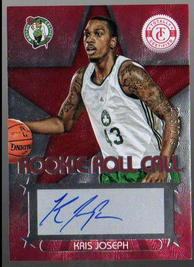 2012-13 Totally Certified Rookie Roll Call Autographs Red #97 Kris Joseph/274