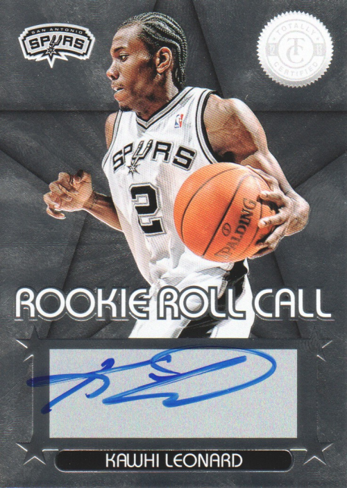 2012-13 Totally Certified Rookie Roll Call Autographs #1 Kawhi Leonard
