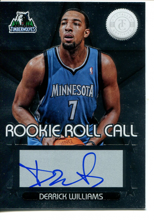 2012-13 Totally Certified Rookie Roll Call Autographs #25 Derrick Williams