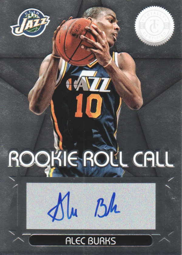 2012-13 Totally Certified Rookie Roll Call Autographs #29 Alec Burks