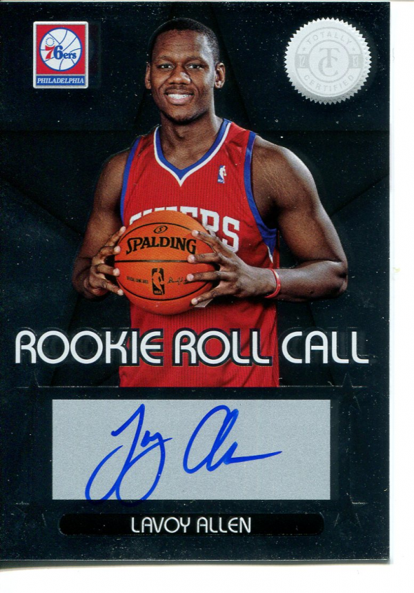 2012-13 Totally Certified Rookie Roll Call Autographs #37 Lavoy Allen