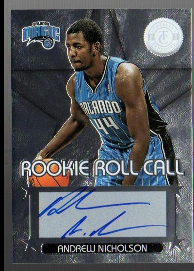 2012-13 Totally Certified Rookie Roll Call Autographs #44 Andrew Nicholson