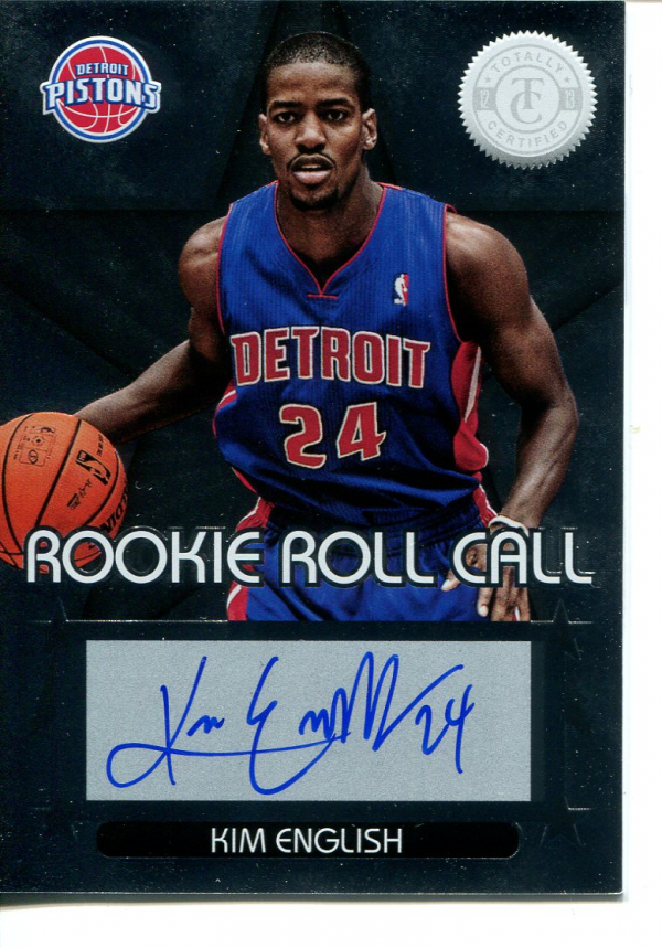 2012-13 Totally Certified Rookie Roll Call Autographs #90 Kim English