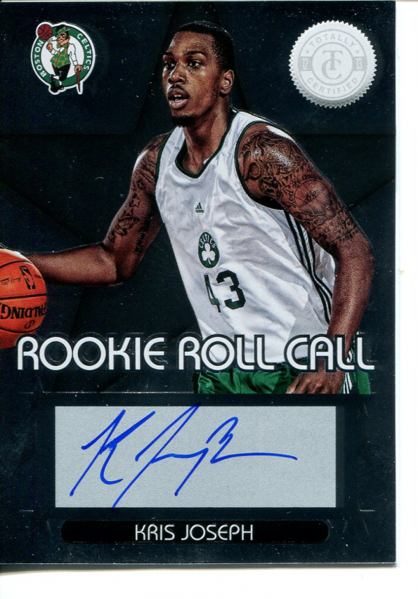 2012-13 Totally Certified Rookie Roll Call Autographs #97 Kris Joseph