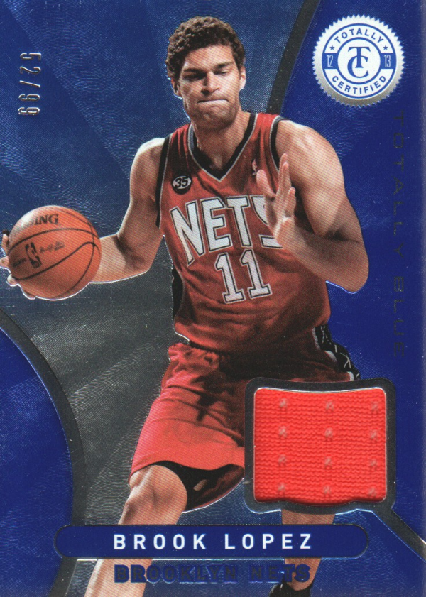 2012-13 Totally Certified Blue Materials #4 Brook Lopez/99