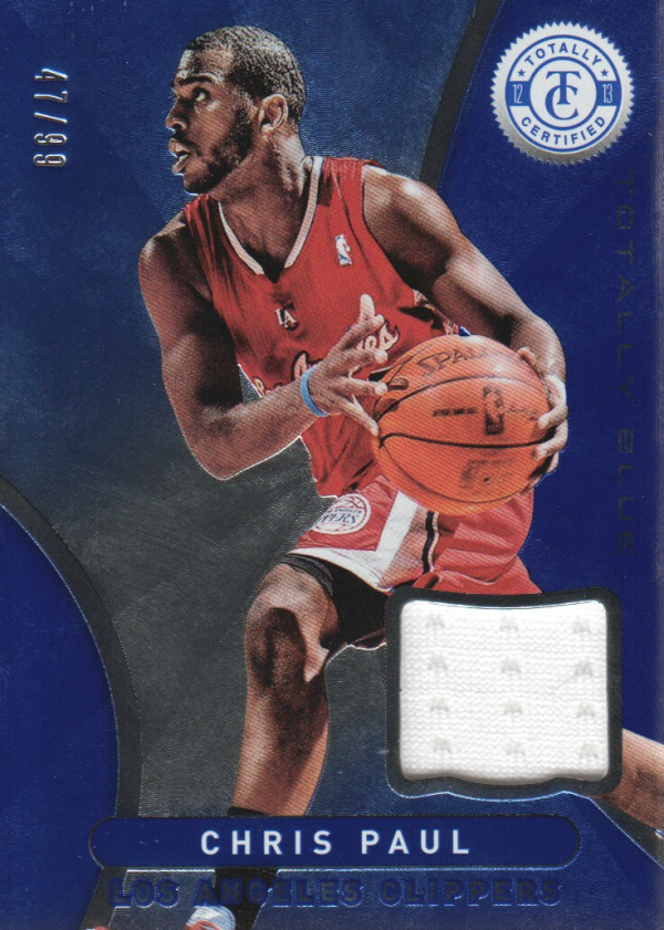 2012-13 Totally Certified Blue Materials #13 Chris Paul/99