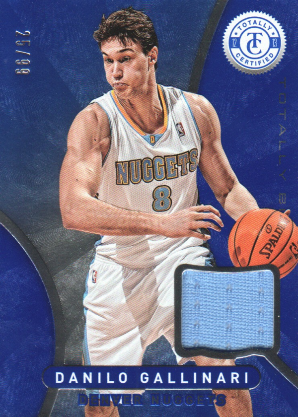 2012-13 Totally Certified Blue Materials #14 Danilo Gallinari/99