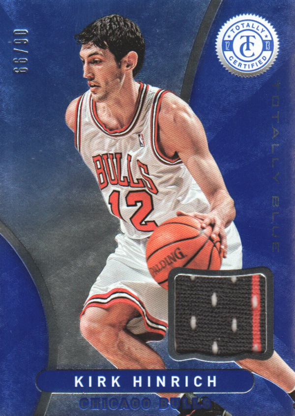 2012-13 Totally Certified Blue Materials #24 Kirk Hinrich/99