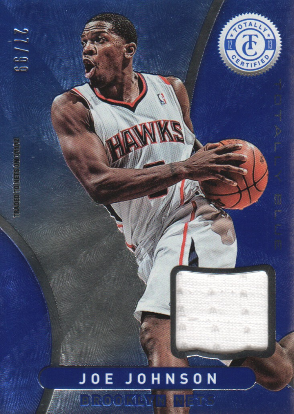 2012-13 Totally Certified Blue Materials #25 Joe Johnson/99
