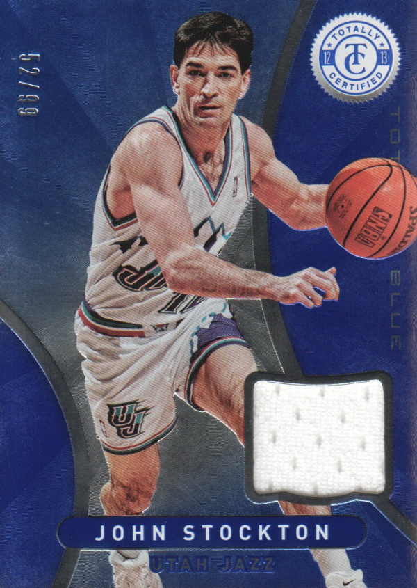 2012-13 Totally Certified Blue Materials #27 John Stockton/99