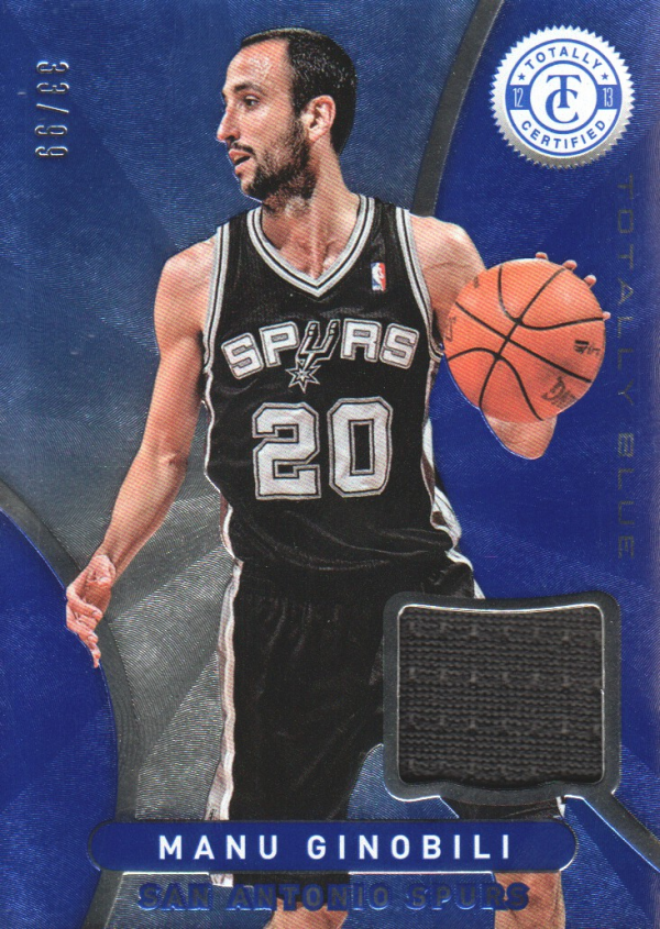 2012-13 Totally Certified Blue Materials #37 Manu Ginobili/99