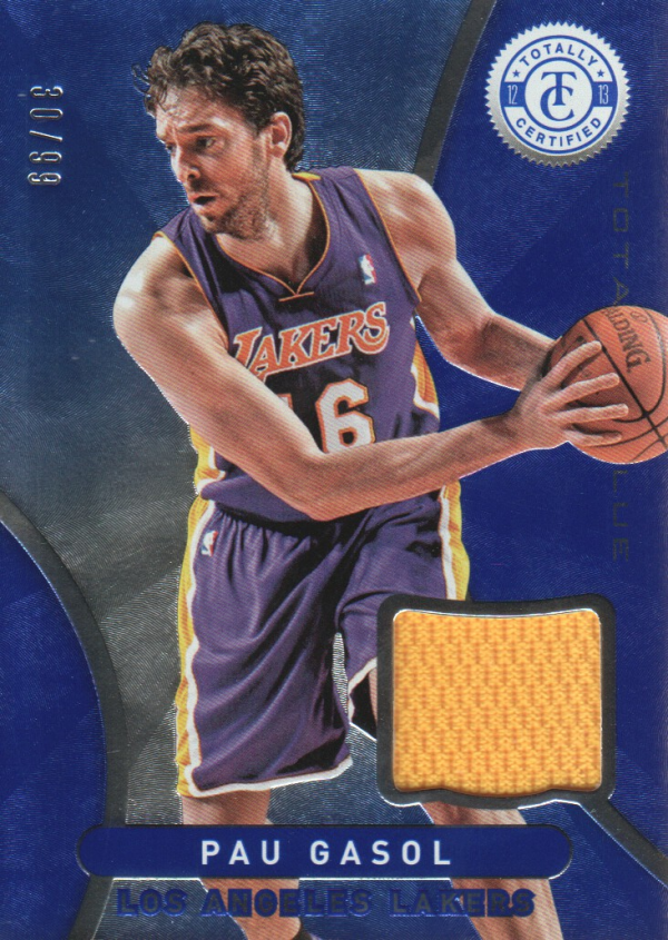 2012-13 Totally Certified Blue Materials #42 Pau Gasol/99