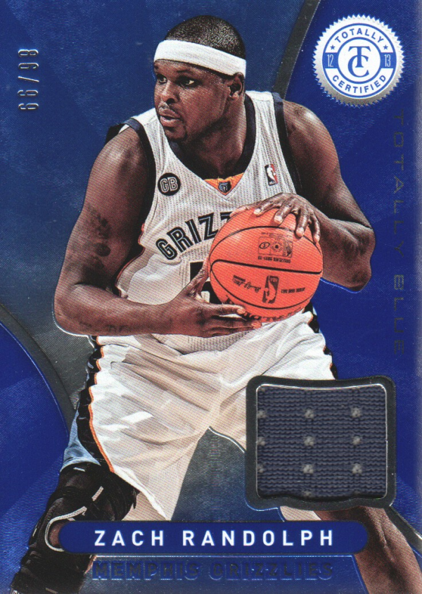 2012-13 Totally Certified Blue Materials #55 Zach Randolph/99