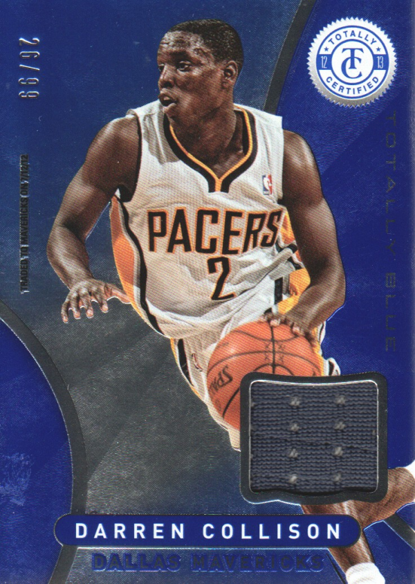 2012-13 Totally Certified Blue Materials #60 Darren Collison/99