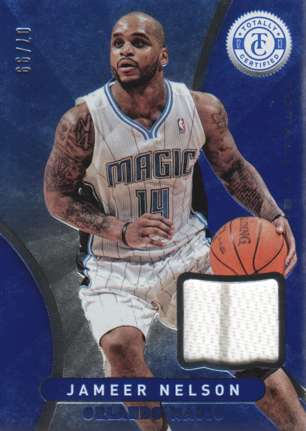 2012-13 Totally Certified Blue Materials #68 Jameer Nelson/99