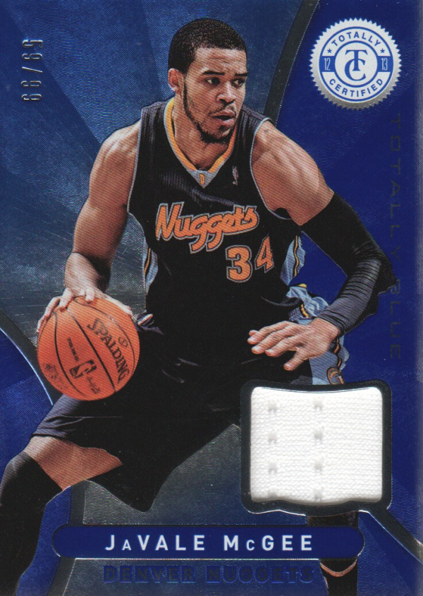 2012-13 Totally Certified Blue Materials #69 JaVale McGee/99
