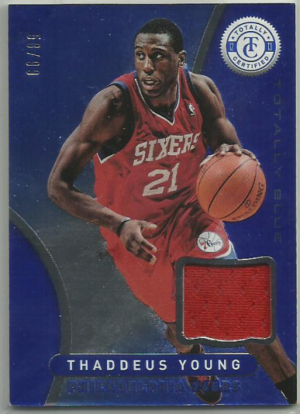 2012-13 Totally Certified Blue Materials #83 Thaddeus Young/99