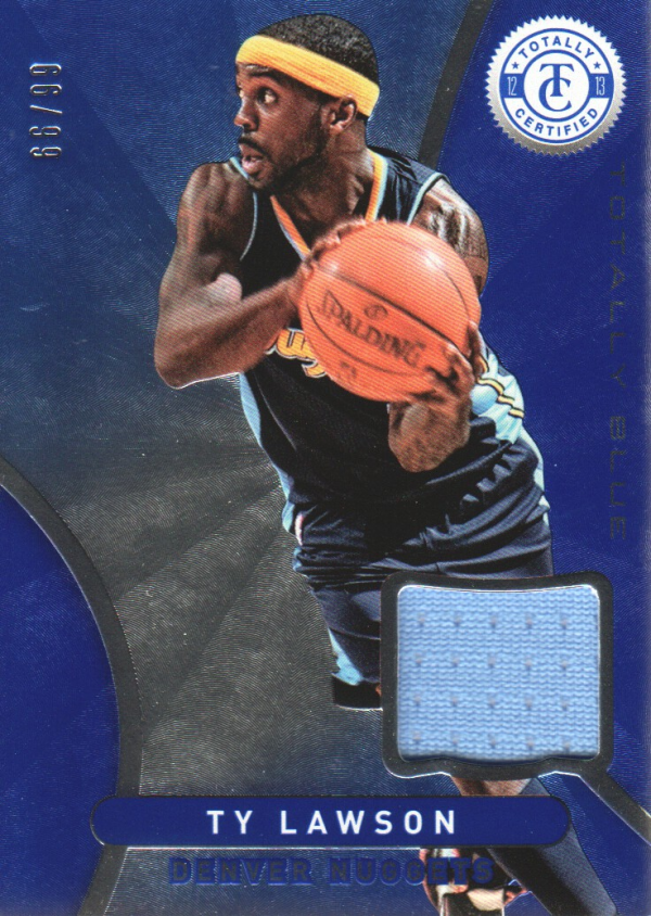 2012-13 Totally Certified Blue Materials #84 Ty Lawson/99