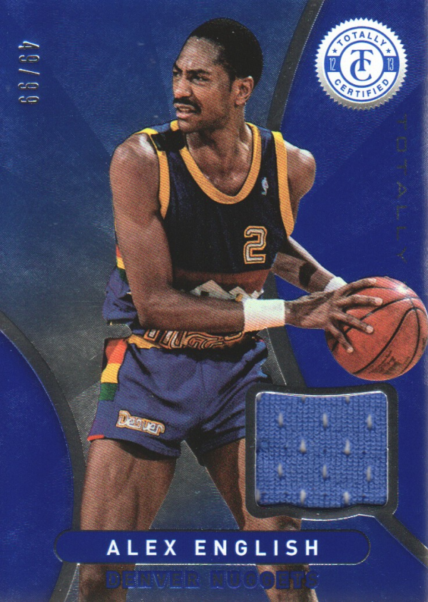 2012-13 Totally Certified Blue Materials #85 Alex English/99