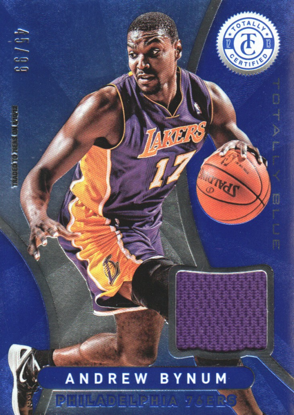 2012-13 Totally Certified Blue Materials #86 Andrew Bynum/99