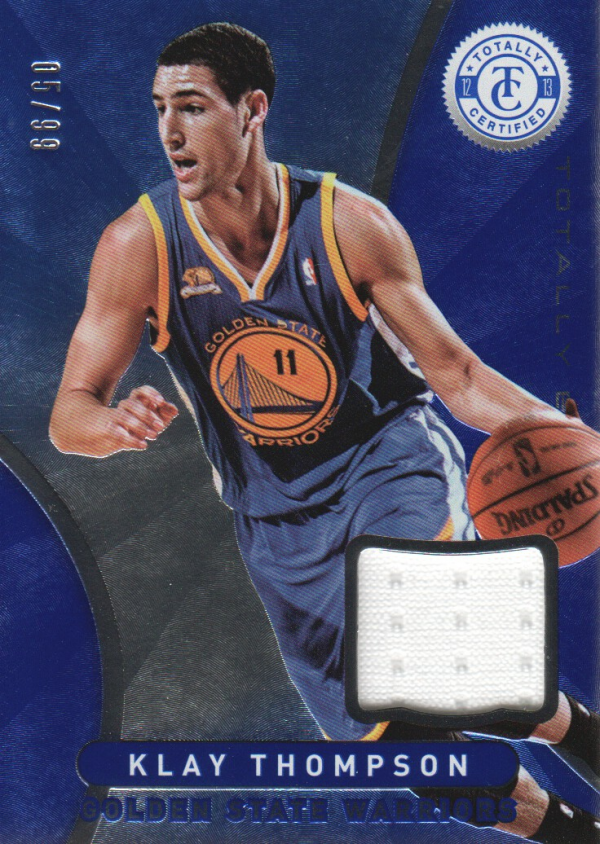 2012-13 Totally Certified Blue Materials #93 Klay Thompson/99