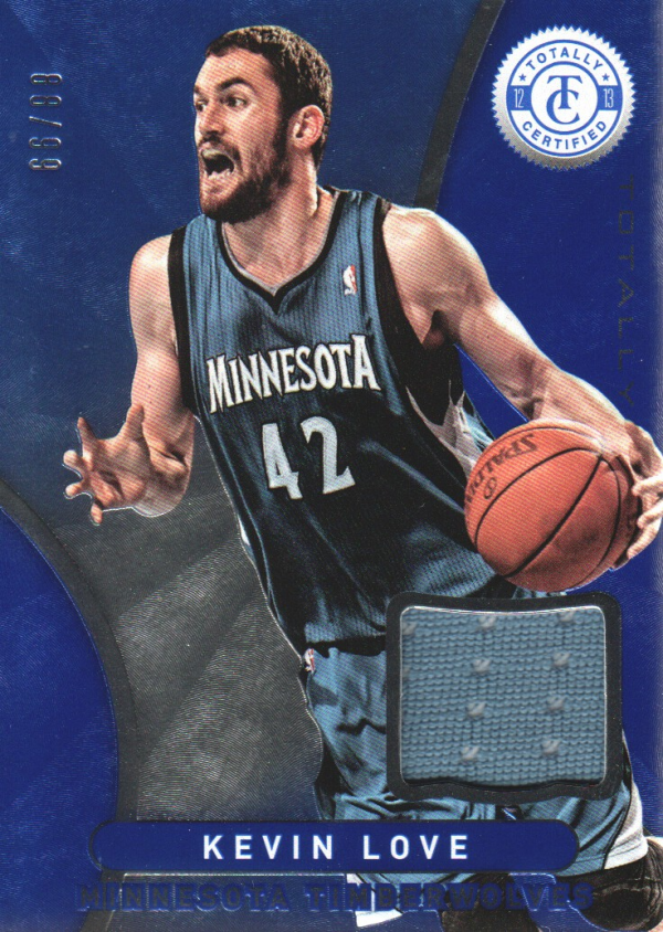 2012-13 Totally Certified Blue Materials #97 Kevin Love/99