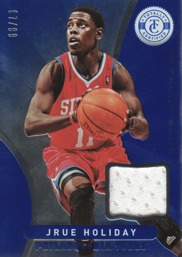 2012-13 Totally Certified Blue Materials #106 Jrue Holiday/99