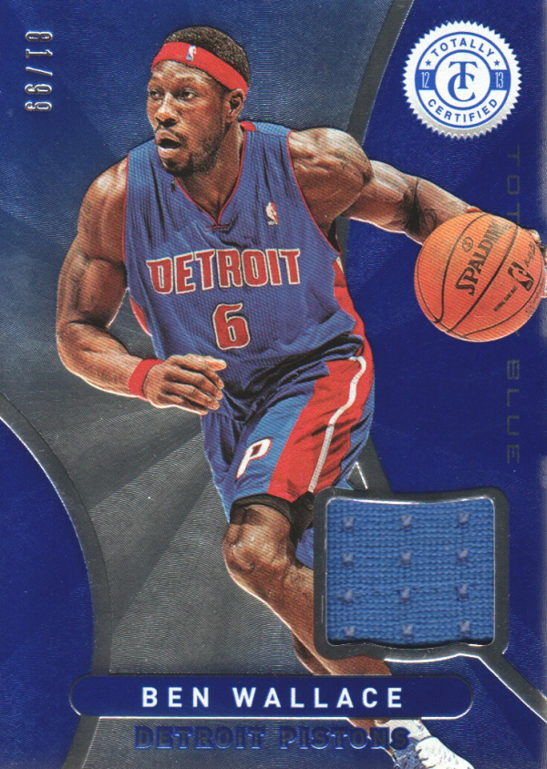 2012-13 Totally Certified Blue Materials #118 Ben Wallace/99